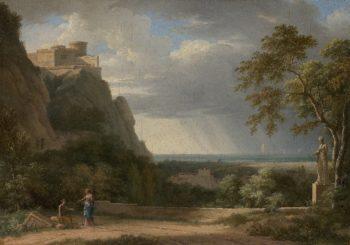 Classical Landscape with Figures and Sculpture | Pierre Henri de Valenciennes | oil painting