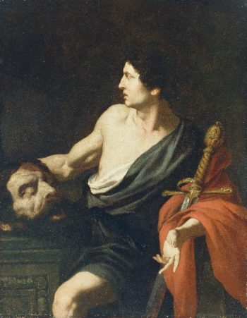 David with the Head of Goliath | Pietro Novelli | oil painting