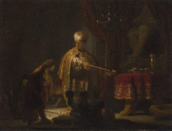 Daniel and Cyrus Before the Idol Bel | Rembrandt | oil painting