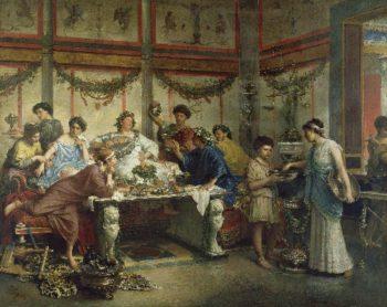 A Roman Feast | Roberto Bompiani | oil painting