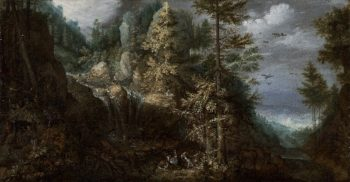 Landscape with the Temptation of Saint Anthony | Roelandt Savery | oil painting
