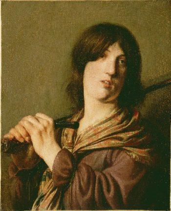 David with His Sword | Salomon de Bray | oil painting