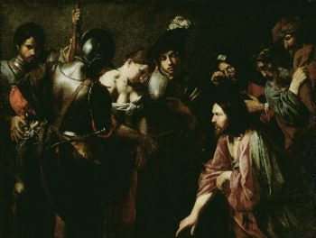 Christ and the Adulteress | Valentin de Boulogne | oil painting