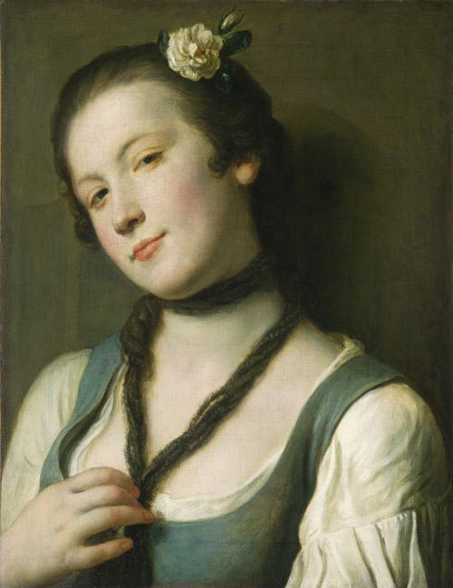 A Girl with a Flower in Her Hair