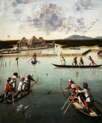 Hunting on the Lagoon | Vittore Carpaccio | oil painting