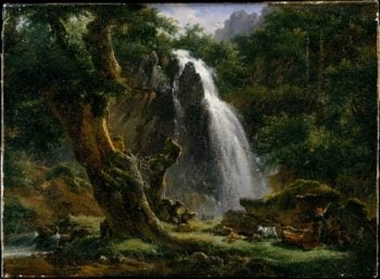Waterfall at Mont-Dore (1818) | Achille-Etna Michallon | oil painting