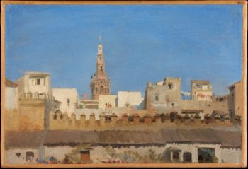 The Giralda Seville (1836 or 1837) | Adrien Dauzats | oil painting