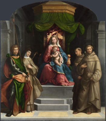 The Madonna and Child enthroned with Saints   Garofalo   oil painting
