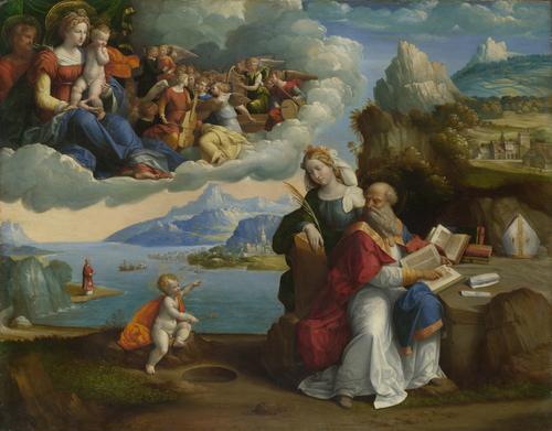 The Vision of Saint Augustine   Garofalo   oil painting