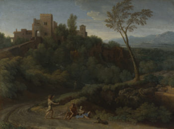 Imaginary Landscape with Buildings in Tivoli | Gaspard Dughet | oil painting
