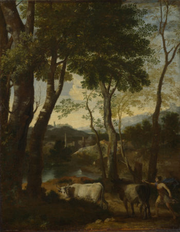 Landscape with a Cowherd | Gaspard Dughet | oil painting