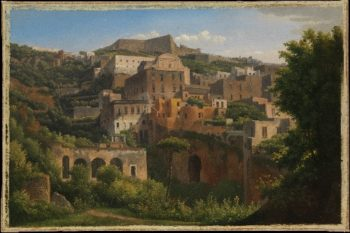 Castel SantElmo from Chiaia Naples (1813) | Alexandre-Hyacinthe Dunouy | oil painting