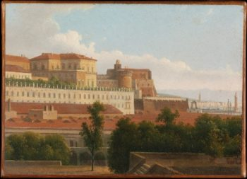 The Palazzo Reale and the Harbor Naples (ca 1810-15) | Alexandre-Hyacinthe Dunouy | oil painting