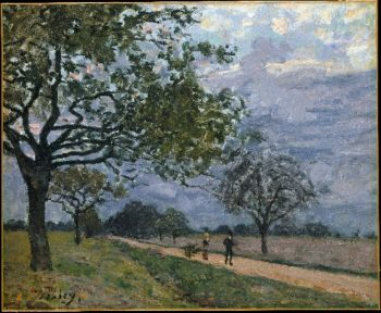 The Road from Versailles to Louveciennes (prob 1879) | Alfred Sisley | oil painting