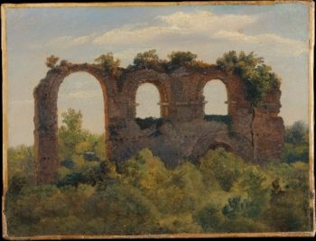 A Section of the Claudian Aqueduct Rome (ca 1826-29) | Andre Giroux | oil painting