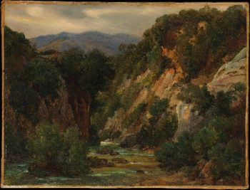 The Aniene River at Subiaco (late 1820s) | Andre Giroux | oil painting