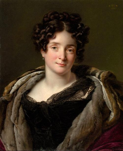 Madame Jacques-Louis-Etienne Reizet (1823)   Anne-Louis Girodet-Trioson   oil painting