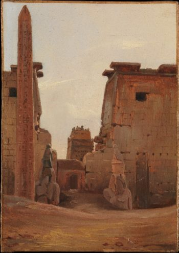 The Gate to the Temple of Luxor (1836) | Antoine-Xavier-Gabriel de Gazeau | oil painting