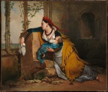 The Mariners Wife (ca 1825) | Attributed to Jean-Augustin Franquelin | oil painting