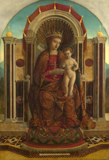 The Virgin and Child Enthroned | Gentile Bellini | oil painting