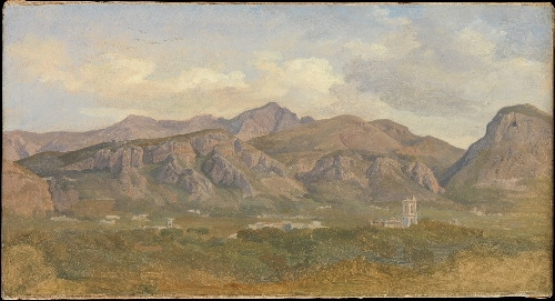 View of Monte SantAngelo from the Villa Auriemma near Sorrento (1832) | August Lucas | oil painting