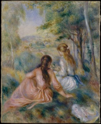 In the Meadow (1888-92) | Pierre Auguste Renoir | oil painting