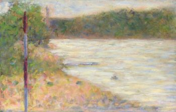 A River Bank (The Seine at Asnieres) | Georges Seurat | oil painting