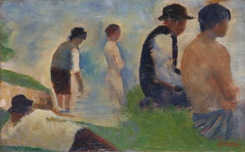 Study for Bathers at Asnieres | Georges Seurat | oil painting