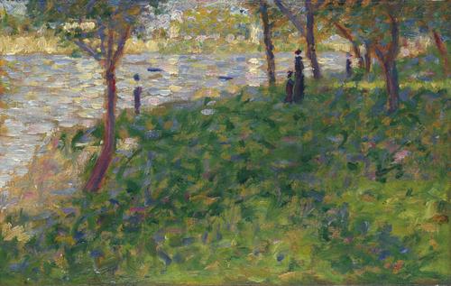 Study for La Grande Jatte   Georges Seurat   oil painting