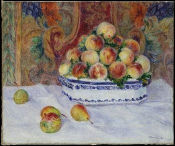 Still Life with Peaches (1881) | Pierre Auguste Renoir | oil painting