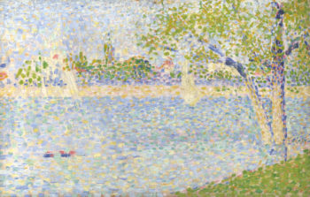 The Seine seen from La Grande Jatte | Georges Seurat | oil painting