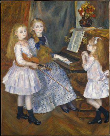 The Daughters of Catulle Mendes Huguette Claudine and Helyonne (1888) | Pierre Auguste Renoir | oil painting