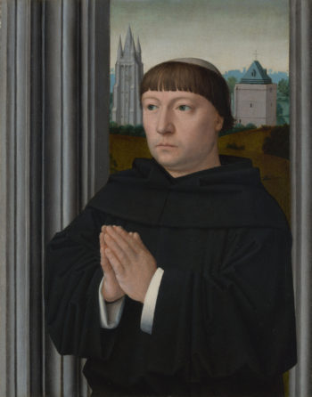 An Augustinian Friar Praying | Gerard David | oil painting