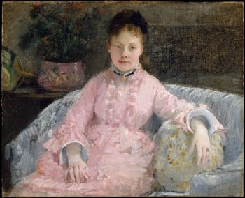 The Pink Dress (ca 1870) | Berthe Morisot | oil painting