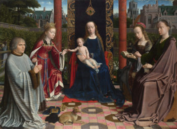 The Virgin and Child with Saints and Donor | Gerard David | oil painting