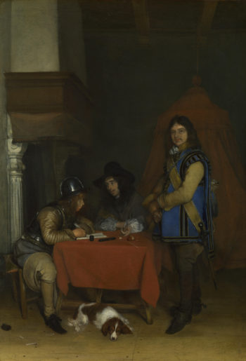 An Officer dictating a Letter | Gerard ter Borch | oil painting