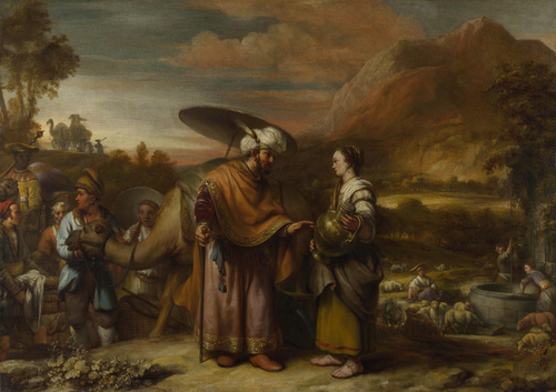 Rebekah and Eliezer at the Well | Gerbrand van den Eeckhout | oil painting