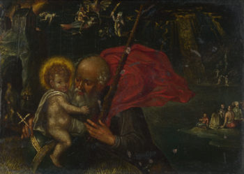 Saint Christopher carrying the Infant Christ | German | oil painting