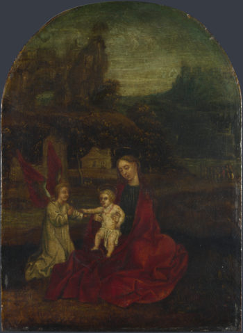 The Virgin and Child with an Angel in a Landscape | German | oil painting