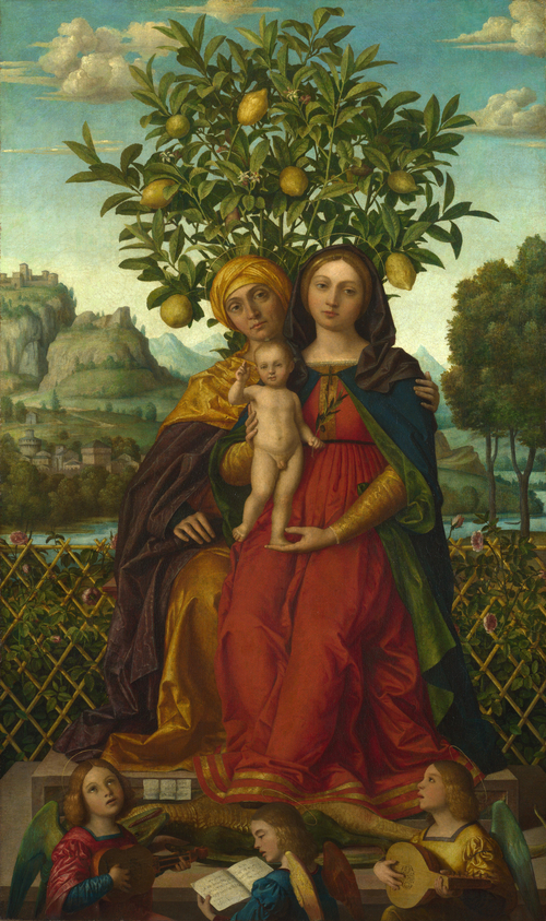 The Virgin and Child with Saint Anne | Gerolamo dai Libri | oil painting