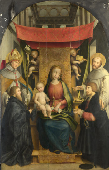 The Virgin and Child with Saints and Donors | Gerolamo Giovenone | oil painting