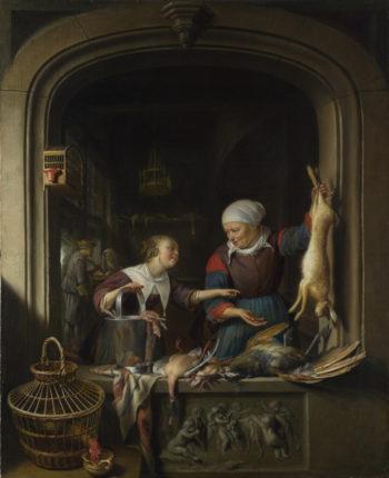 A Poulterer's Shop | Gerrit Dou | oil painting