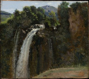 Waterfall at Terni (1826) | Camille Corot | oil painting