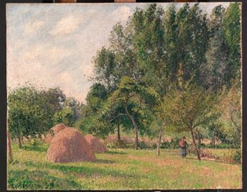 Haystacks Morning Eragny (1899) | Camille Pissarro | oil painting