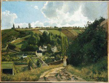 Jalais Hill Pontoise (1867) | Camille Pissarro | oil painting