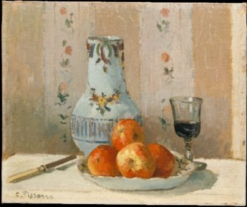 Still Life with Apples and Pitcher (1872) | Camille Pissarro | oil painting