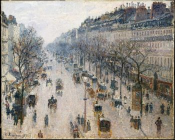 The Boulevard Montmartre on a Winter Morning (1897) | Camille Pissarro | oil painting