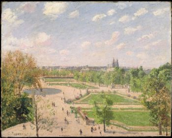 The Garden of the Tuileries on a Spring Morning (1899) | Camille Pissarro | oil painting