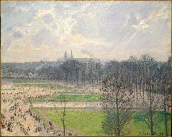 The Garden of the Tuileries on a Winter Afternoon (1899) | Camille Pissarro | oil painting