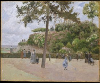 The Public Garden at Pontoise (1874) | Camille Pissarro | oil painting